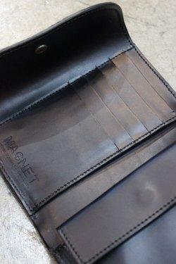 画像4: 「MAGNET」 Three Fold Wallet マグネット スリーフォールドウォレット(3つ折サイフ) [WOOD BLACK]