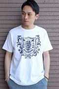 """「FRENZY WORKS」MEXICAN SKULL Tee """"SHIELD"""" フレンジーワーク メキシカンスカル プリントTシャツ [ホワイト]"""