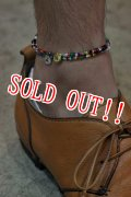「Button Works」 Beads Anklet ボタンワークス ビーズアンクレット 「ゴールド・シルバー」