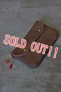 「RE.ACT」 Leather Medium Pouch リアクト レザーミディアムポーチ [ブラウン]