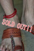 「RE.ACT」 LEATHER MESH ANKLET リ・アクト レザーメッシュアンクレット [レッド]