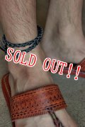 「RE.ACT」 LEATHER MESH ANKLET リ・アクト レザーメッシュアンクレット [ブラック]
