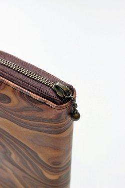 画像3: 「MAGNET」 Long Zip Wallet マグネット ロングジップウォレット [WOOD BROWN]