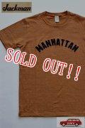 「Jackman」 Silk Cotton T-Shirts MANHATTAN ジャックマン シルクコットン 半袖 刺繍 Tシャツ JM5711 「オリオール/Oriole」