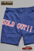 「Jackman」 Cotton Dotsume Shorts  ジャックマン コットン ドツメ ショーツ 度詰天竺 限定カラー JM7812 「ブルー」