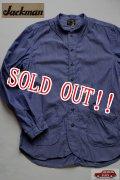 「Jackman」 Baseball Stripe Shirts ジャックマン ベースボール ストライプシャツ JM3140 「ネイビー」