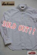 「Jackman」 OXFord Baseball B.D.Shirts ジャックマン オックスフォード ベースボール ボタンダウンシャツ JM3130 「ホワイト」