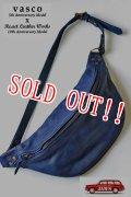 「Re.Act」×「vasco」10th Leather Waist Bag リ・アクト × バスコ 10周年コラボ ウエストバッグ [インディゴ]
