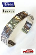 「Pherrows」×「PEACE」 フェローズ×ピース コラボ第二弾 シルバーバングル 15W-PP-BANGLE [シルバー]