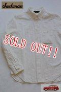 「Jackman」 Baseball B.D.Shirts ジャックマン 綿麻 ベースボール ボタンダウンシャツ JM3160 「ホワイト」