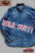 「JELADO」 Railroader Shirts Vintage Finish ジェラード レイルロイーダーシャツ ヴィンテージフィニッシュ デニム JP11113 [フェイドインディゴ]