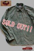 「JELADO」 Railroader Shirts Vintage Finish ジェラード レイルロイーダーシャツ ヴィンテージフィニッシュ  JP11113 [フェイドオリーブ]