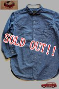 「JELADO」 LOWER SHIRTS ジェラード ローワーシャツ 7分袖 シャンブレーワークシャツ AG11102 [インディゴ]