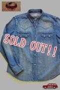「JELADO」 Denim Western Shirts Vintage Finish ジェラード デニムウエスタンシャツ ヴィンテージフィニッシュ JP11107  [フェイドインディゴ]