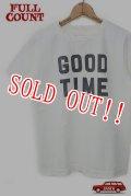 「FULLCOUNT」 BASIC PRINT TEE (GOOD TIME) フルカウント ベーシックプリント Tシャツ [ホワイト]
