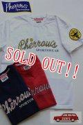 「Pherrows」 フェローズ 生誕25周年記念モデル 半袖プリントTシャツ 16S-PT-25th [ホワイト・レッド・インディゴブルー]
