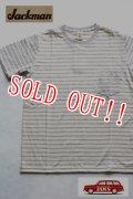 「Jackman」 Silk Cotton Pocket T-Shirts  ジャックマン シルクコットン ポケットボーダーTee  JM5580 「オフホワイト」