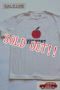「CAL O LINE」 VERMONT APPLE T-SHIRT キャルオーライン アップルプリントTシャツ [ホワイト]