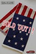 「CAL O LINE」 AMERICA FLAG BLANKET キャルオーライン アメリカ国旗 星条旗 ブランケット 今治タオル CL162-092 [アメリカ]