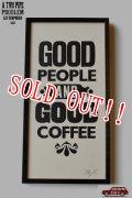 「A TWO PIPE PROBLEM」 GOOD PEOPLE & GOOD COFFEE 活版印刷 ポスター 額付き ATPP-P-32 [ブラック]