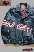 「JELADO」 Rebel Jacket  ジェラード レベルジャケット ダブルライダースジャケット ホースハイド SG13411 [ネイビー]