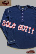 「JELADO」 L/S  Classic underwear ジェラード クラシック アンダーウェア ヘンリーネック 長袖Tシャツ JAGT-013 [ネイビー]