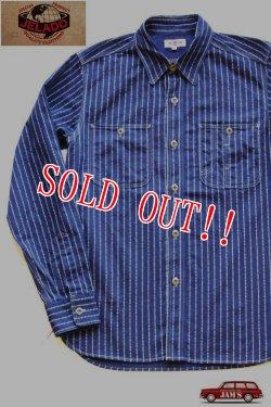 画像1: 「JELADO」 Railroader Shirts ジェラード レイルローダーシャツ トランプ柄 JP21107 [インディゴウォバッシュ]