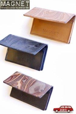 画像1: 「MAGNET」 Card Case マグネット カードケース [WOOD NATURAL・WOOD BLACK・WOOD BROWN・MOSAIC]