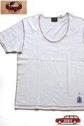 「JELADO」 Rainbow Stitch Tee ジェラード レインボーステッチTシャツ RG21203 [ホワイト]
