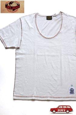 画像1: 「JELADO」 Rainbow Stitch Tee ジェラード レインボーステッチTシャツ RG21203 [ホワイト]