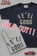 「FULLCOUNT」 FEEL GOOD BASIC PRINT Tee フルカウント ベーシックプリント Tシャツ Lot.5959 [ホワイト・インクブラック]