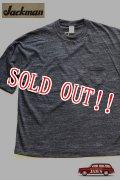 「Jackman」 GG Pocket T-shirts ジャックマン ルーズシルエット ポケTee  JM5758 「ブラック」