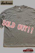 「Jackman」 GG Pocket T-shirts ジャックマン ルーズシルエット ポケTee  JM5758 「アイボリー」