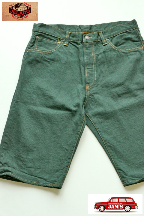 b9d84b24a8270 画像1  「JELADO」 Color Shorts ジェラード カラーデニム ショーツ  ポパイグリーン