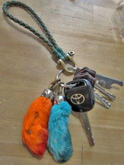 画像5: 「RE.ACT」 Leather Mesh Key Holder レザー メッシュキーホルダー [ナチュラル・ブラウン・レッド・カーキ]