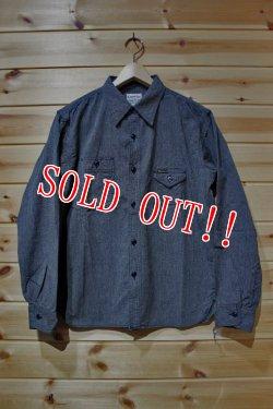 画像4: 「Pherrow's」 12W-750WS  HEATHER CHAMBRAY WORK SHIRTS へザーシャンブレーワークシャツ  [ブラック]