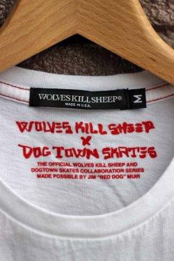 """画像4: [30%off]「WOLVES KILL SHEEP」×「DOG TOWN」 """"RATON SQUARE"""" ウルヴスキルシープ プリント半袖Tee [ホワイト]"""