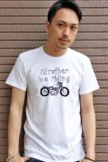 """[30%off]「WOLVES KILL SHEEP」 """"I'D RATHER BE RIDING"""" ウルヴスキルシープ プリント半袖Tee [ホワイト]"""