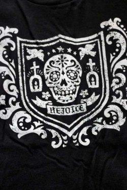 """画像3: 「FRENZY WORKS」MEXICAN SKULL Tee """"SHIELD"""" フレンジーワーク メキシカンスカル プリントTシャツ [ブラック]"""