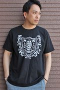 """「FRENZY WORKS」MEXICAN SKULL Tee """"SHIELD"""" フレンジーワーク メキシカンスカル プリントTシャツ [ブラック]"""