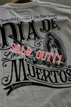 """画像3: 「FRENZY WORKS」MEXICAN SKULL Tee """"DIA DE MUERTOS """" フレンジーワークス メキシカンスカル プリントTシャツ [ホワイト]"""