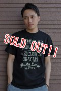 """「FRENZY WORKS」MEXICAN SKULL Tee """"HOLA!!"""" フレンジーワークス メキシカンスカル プリントTシャツ [ブラック]"""