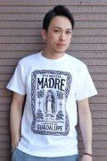 """「FRENZY WORKS」MEXICAN SKULL Tee """"MARIA"""" フレンジーワークス メキシカンスカル プリントTシャツ [ホワイト]"""