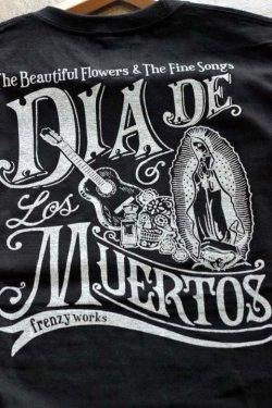 """画像3: 「FRENZY WORKS」MEXICAN SKULL Tee """"DIA DE MUERTOS """" フレンジーワークス メキシカンスカル プリントTシャツ [ブラック]"""