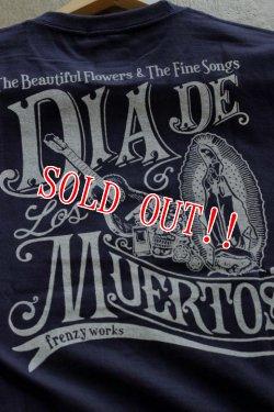 """画像3: 「FRENZY WORKS」MEXICAN SKULL Tee """"DIA DE MUERTOS """" フレンジーワークス メキシカンスカル プリントTシャツ [ネイビー]"""