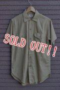 「VINTAGE」1950年代 DEAD STOCK Lee SS WORK SHIRTS デッドストック(未使用) リー 半袖ワークシャツ Size 14(S) [ベージュ]