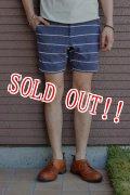 「Jackman」 Nep Sweat Boder Shorts ジャックマン ネップスウェットボーダーショーツ JM7686 「ネイビー」