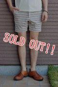 「Jackman」 Nep Sweat Boder Shorts ジャックマン ネップスウェットボーダーショーツ JM7686 「アイボリー」