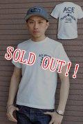 「Pherrows」 フェローズ ACE BRAND プリント半袖Tシャツ 14S-PTJ6  [ホワイト]