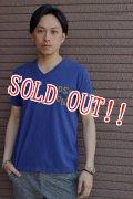 [再入荷!!]「Jackman」 BOSTON Stitch V-Neck Tee ジャックマン ボストンステッチ Vネック 半袖Tシャツ JM5554 「ブルー」